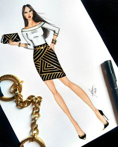 How to Draw a Fashionable Dress - Drawing On Demand Dress Design Drawing, Dress Design Sketches, Fashion Design Sketchbook, Fashion Design Drawings, Fashion Sketches, Fashion Figure Drawing, Fashion Drawing Dresses, Dress Illustration, Fashion Illustration Dresses
