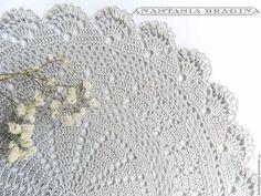 Текстиль, ковры ручной работы. Ярмарка Мастеров - ручная работа. Купить салфетка вязаная. Handmade. Серый, салфетка декоративная, для кухни