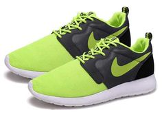 bc321e48bb32 Trainers - Nike Roshe Run Hyperfuse QS Mens Fluorescent Green Black Grey  Shoes
