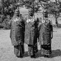 Kenya, Kericho County, Ndanai. Kipsigis women in traditional dress.