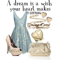 """A dream is a wish your heart makes"" by lalakay on Polyvore"