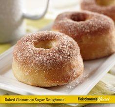 Rise and shine with a dozen Baked Cinnamon Sugar Doughnuts
