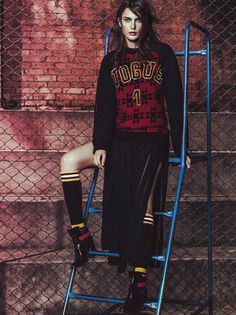 """Classe 2014"" Fernanda Liz and Nathalia Novaes by Jacques Dequeker for Vogue Brazil April 2014"