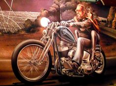 DAVID MANN EASYRIDERS MULHOLLAND DRIVE CLASSIC MOTORCYCLE ART