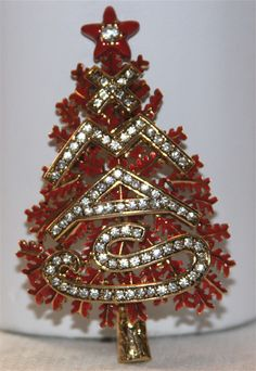 Weiss signed Christmas tree pin...limited edition