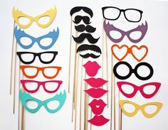 I think you mentioned having a photo booth with those frames. Here are some ideas for other props. We could make them ourselves for pretty cheap. Wedding Photo Booth Props