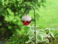 Fairy Garden Acorn Cap Lantern miniature  by TheLittleHedgerow, $6.50
