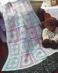 Tender Touch pattern  Designed by Rosetta Harshman - this is a beautiful baby blanket!