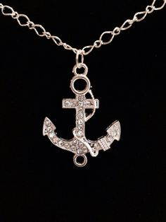 Anchor Necklace by KelsysCharm on Etsy, $12.00