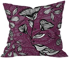 Purple throw pillows are super cute, beautiful and  stylish.  Use on beds and couches to  create a calm and relaxing vibe especially in your living room or bedroom.  Indeed, Purple accent pillows along with  other purple home décor accents make for beautiful purple home decorated room  or home.      DENY Designs Julia Da Rocha Purple Funky Flowers Throw pillow, 20 X 20