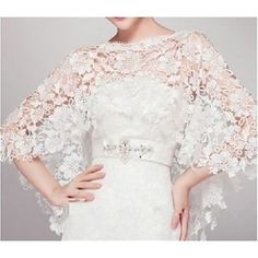 Wedding  Wraps Capelets Sleeveless Lace Ivory – USD $ 24.99
