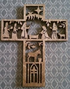 There are tons of helpful tips for your wood working ventures located at… Christmas Nativity Scene, Christmas Wood, Christmas Crafts, Nativity Scenes, Christmas Printables, Christmas Bells, Nativity Crafts, Wood Crafts, Diy And Crafts