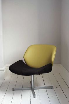 Vintage 1960s Vintage Curved Chair (2) - re-upholstered