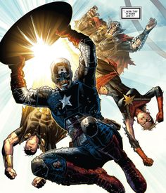 Infinity - Avengers: Captain America by Jim Cheung * Comic Book Artists, Comic Book Characters, Marvel Characters, Comic Artist, Comic Character, Comic Books Art, Marvel Comics Art, Marvel Comic Universe, Marvel Heroes