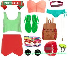 """""""Portugal Babyy!"""" by fureeekshow on Polyvore  #fureeekshow #fashion #style #fifaworldcup2014 #sporty #portugal #accessories"""