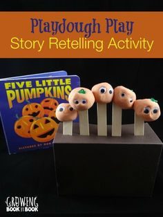 Five Little Pumpkins book and activity from growingbookbybook.com #halloween