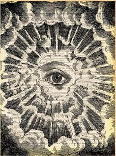 All Seeing Eye by Madame Bricolage.  Spiritual sight, inner vision, higher knowledge #eye #illustration #occult