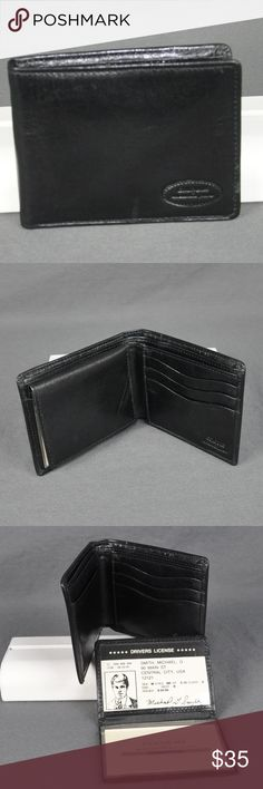 Colours by Alexander Julian Men's Bifold Wallet Wallet is brand new, never been used.  Removable ID slot Removable sleeve for 3 cards 3 additional slots for cards on right Two slots for bills  Smoke free pet friendly home Alexander Julian Bags Wallets