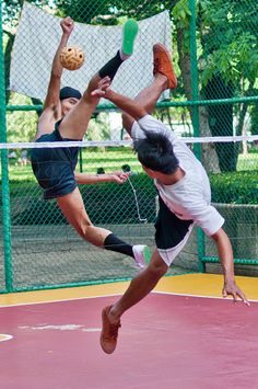 Sepak Takraw (kick volleyball popular in Southeast Asia) - Queen Sirikit Park, Bangkok