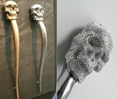 Skull cabinet handles- I like the silver non-rhinestone one or black ones ;)