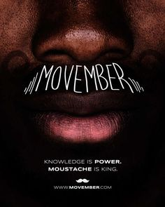 I am repinning this for 2 reasons. It is typography, and its main focus is Movember, which is something my computer graphics class focused on a lot.