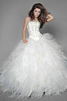 pictures of white quinceanera dresses | ... Line-Flattering-White-Quinceanera-Dresses-In-Miami-pid-1887.html