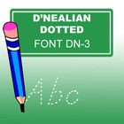 With this D'Nealian Dotted Lined Style Family Font, especially designed  for teachers, you can easily create hundreds of handwriting, spelling