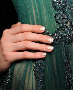 Fashion Week Fall 2015: The Best Runway Manicures - Tadashi Shoji from #InStyle