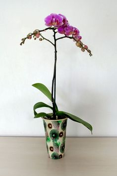 #Recycled #Plastic #Pot with #Fabric #Decoupage  http://reclaimdesign.weebly.com/