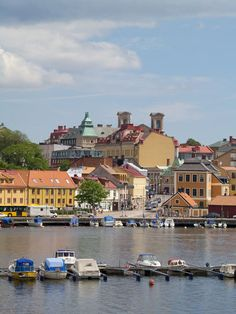 View of Karlskrona from the sea.