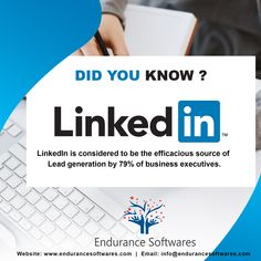 According to 79% of business marketers, LinkedIn is considered to be the efficacious source of Lead generation as targeting the capabilities of the advanced audience can ensure the increased traffic which mostly converts into leads. Social Media Services, Social Media Marketing, Best Seo, Lead Generation, Did You Know, Software, Business, Store, Business Illustration