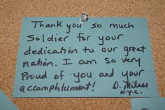 Thank a soldier art installation army and note visitors to the army strong zone at the 2012 essence music festival leave thank you notes expocarfo