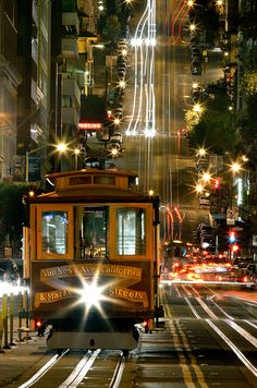 California Street Cable Car, San Francisco ,CA Being able to do the one arm hang from a crowded cable car was one of the delights of my life!