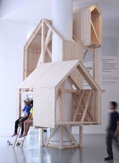 Epic Indoor Treehouses - Shelter of Nostalgia Takes Adults Back in Time with Every Ascending Step (GALLERY)