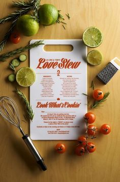 Heres the perfect wedding invitation for the foodie couple.