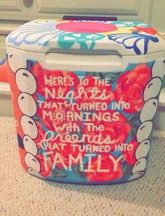 Phi mu - cooler for big little reveal