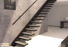 Limon Latéral Sydney pour Escalier Suspendu en Acier (281 à 350 cm)