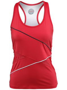 Bolle Women's Infrared Mesh #Tennis Tank in Red