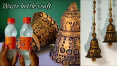 Bottle Cap Art, Bottle Cap Crafts, Diy Bottle, Diwali Diy, Diwali Craft, Waste Bottle Craft, Diwali Decoration Items, Weaving For Kids, Mirror Crafts
