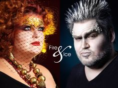Fire and Ice makeup male makeup