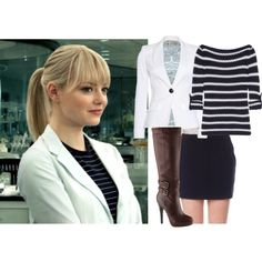 """""""Emma Stone as Gwen Stacy"""" by hannahintheuk on Polyvore"""