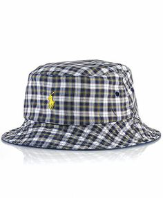 d8475ba2773 Polo Ralph Lauren Reversible Chino-and-Tartan Bucket Hat   Reviews - Hats