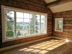 Back Deck, Log Homes, Sunroom, Cottage, Cabin, Windows, House Ideas, Decor Ideas, Summer