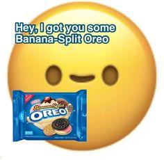 I Got U, Raw Cookie Dough, Creative Names, Banana Split, Wholesome Memes, Mood Pics, Wall Collage, Make You Smile, Emoji