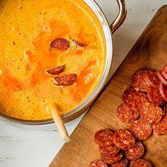 Maďarské kyselo zdýně hokaido | Koření od Antonína Cheeseburger Chowder, Curry, Menu, Ethnic Recipes, Soups, Hokkaido, Menu Board Design, Curries, Soup