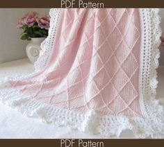 Knitting PATTERN 63 - Paris - Knit Baby Blanket PATTERN 63 - Knit Symbol Pattern - Instant Download PDF Pattern