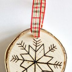 Learn how to make these easy DIY wood burned birch slice ornaments. Plus read on for tips and tricks for using a wood burning tool. Christmas Crafts For Kids, Diy Christmas Ornaments, Christmas Cards, Crate, Birch, Holiday Ideas, Sheep, Easy Diy, Best Gifts