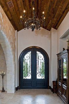 A majestic entry. Spanish Style Homes, Spanish House, Spanish Revival, Spanish Colonial, Santa Barbara, Style Hacienda, Villa, Mediterranean Home Decor, California Homes