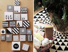 Advent calendar and geometric tree skirt