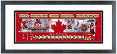 "Team Canada 2014 Winter Olympics Gold Medal Winners-18.5""x42.5""Framed Photoramic"